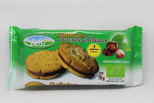 Galletas de espelta con chocolate y avellnas 70 gr Belsi