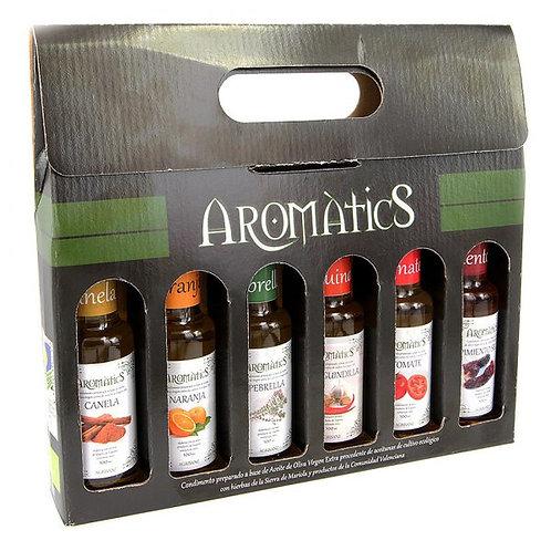 Aceite Agrisanz 6 sabores caja de carton