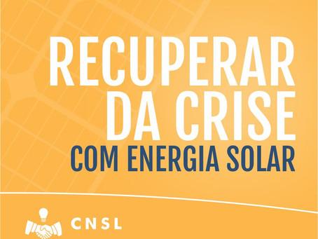 Recuperar da crise, com energia solar!