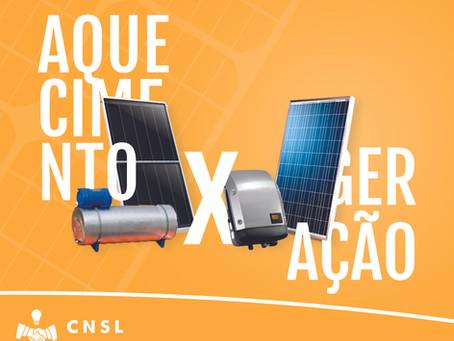 Aquecimento vs geração solar!