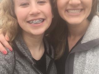 Faith's new braces!