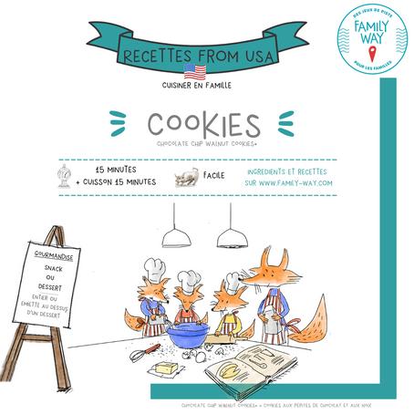 à la recherche de la recette du cookie croustillant à l'ext, moelleux à l'int. et au choc fondant