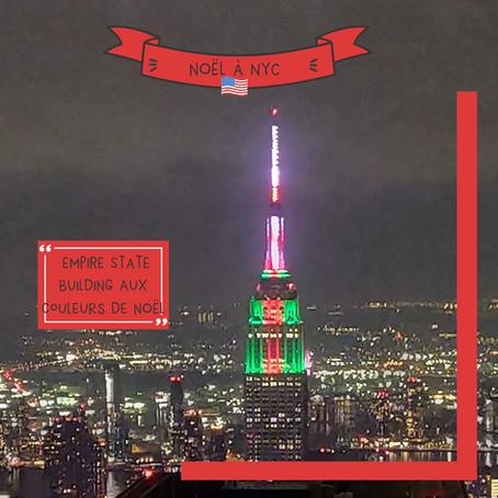 New York se pare des couleurs de Noël