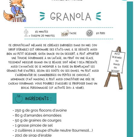 Nouvelle recette from USA : le GRANOLA. Et tellement meilleur quand on le réalise soit même !