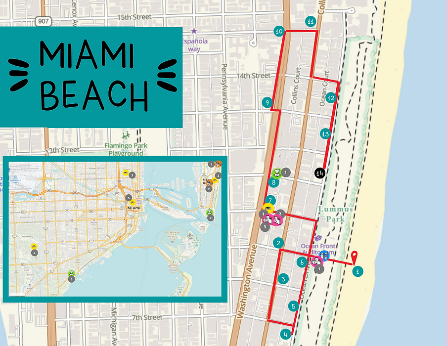 map Miami Beach avec adresses.png