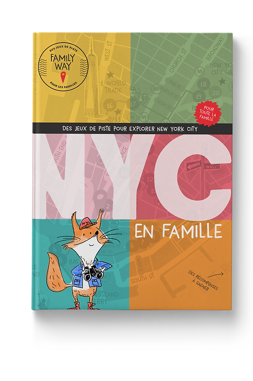 """LIVRE Guide de voyage """"Des jeux de piste pour explorer New York City en famille"""""""