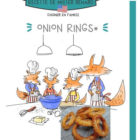 En attendant, de reprendre les voyages, je vous propose de vous évader avec la cuisine : ONION RINGS
