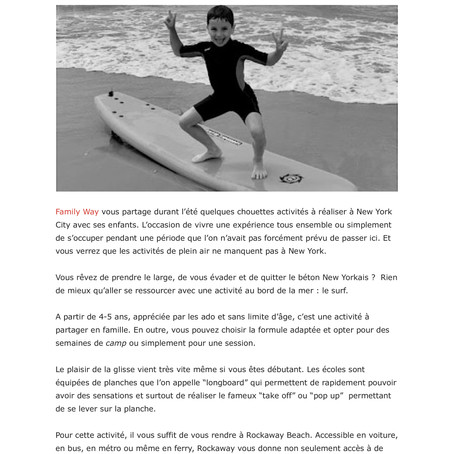 Un été à NYC en famille : et pourquoi pas le surf ?