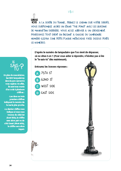 Étape en famille pour découvrir les secrets des lampadaires de CENTRAL PARK