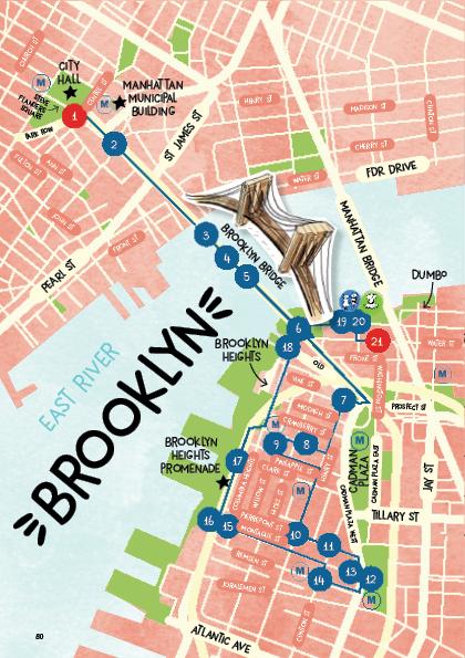 Plan d'un parcours en famille avec enfants à BROOKLYN