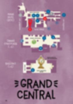 Plan d'un parcours en famille avec enfants à GRAND CENTRAL à New York