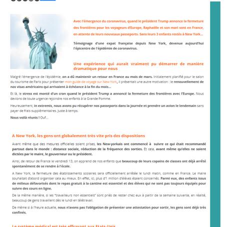 TÉMOIGNAGES DES EXPATS CONFINÉS • N.Y à retrouver sur www.femmexpat.com