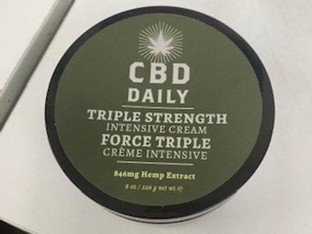 CBD Triple Strength Cream 8oz 180mg