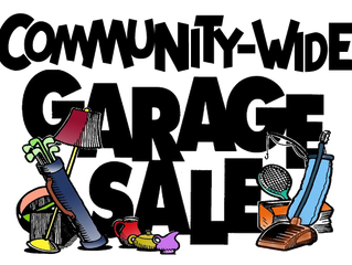 Lake Francis Garage Sale: June 1, 2019