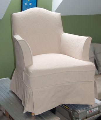 Chair slipcovered!