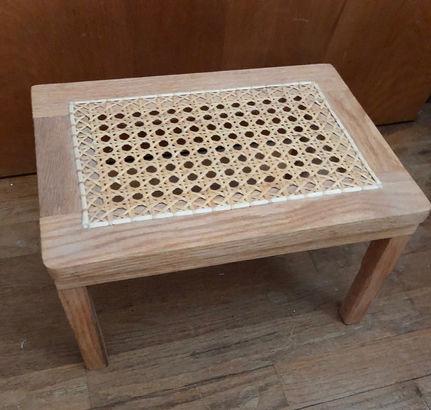 Hand caned stool