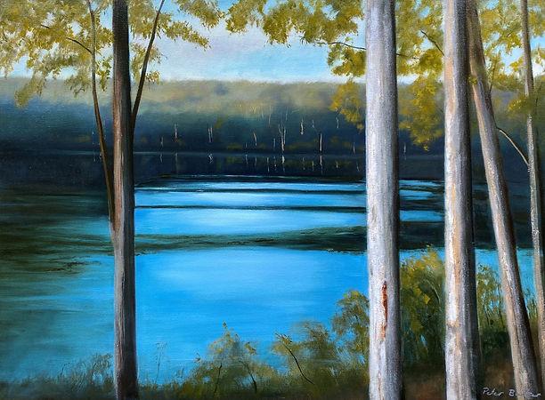 Breath in, 61cm x 86cm,oil on canvas, pe