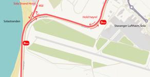 Solnedgangen 5km mandag kl 1930 - start og mål flyttet til Sola Strandhotel