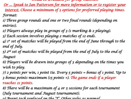 Summer Singles Competition