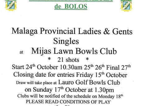 Provincial Singles hosted by Mijas