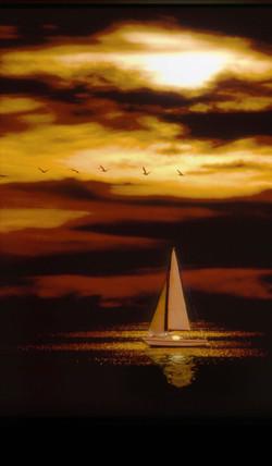 Sunset Sailboat