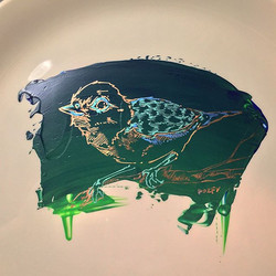 #bird #plateart. Much love and #thanks to my #wife for believing in me