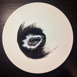 #oyster #plateart for _restaurantfinistere. Last piece of the set
