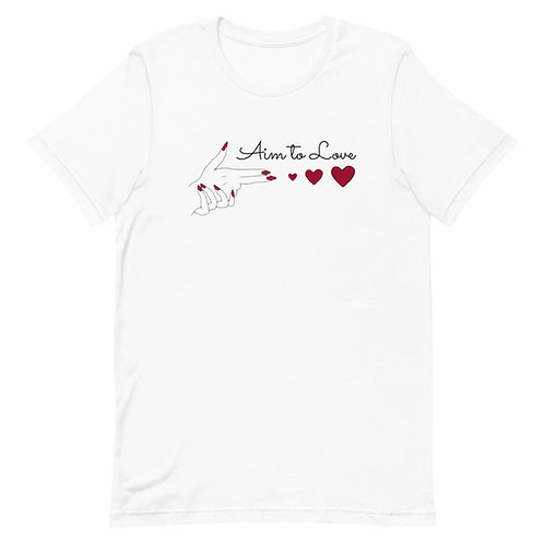 """Aim to LOVE"" Short-Sleeve Unisex T-Shirt"