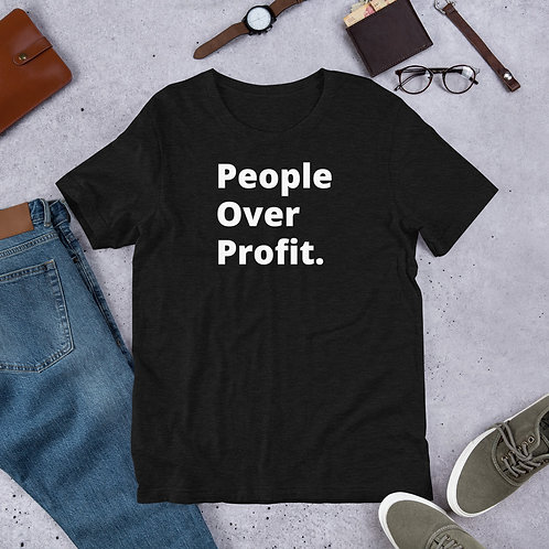 People Over Profit Short-Sleeve Unisex T-Shirt