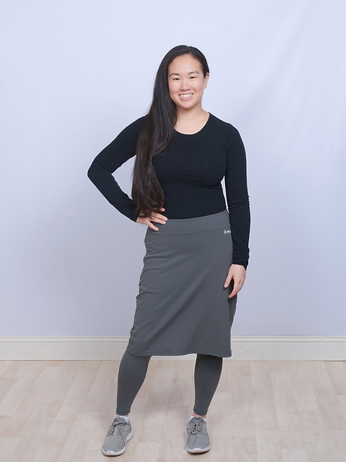 OMNi Grey Skirted Leggings