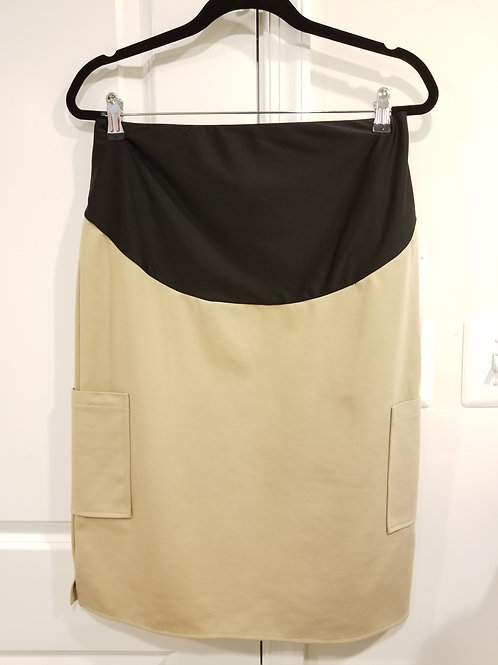 Khaki Maternity Skirt