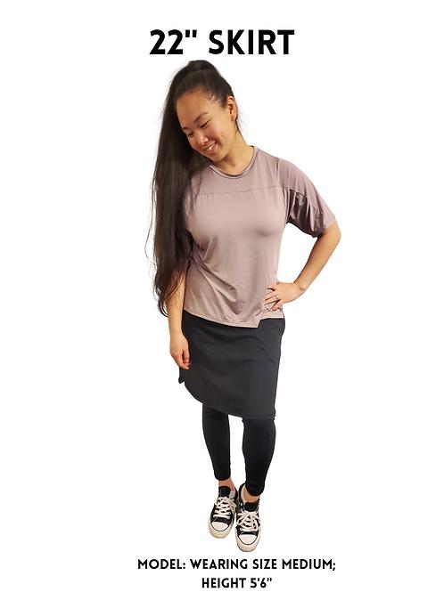 OMNi Black Skirted Leggings