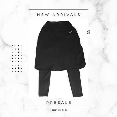 OMNi Black Skirted Leggings