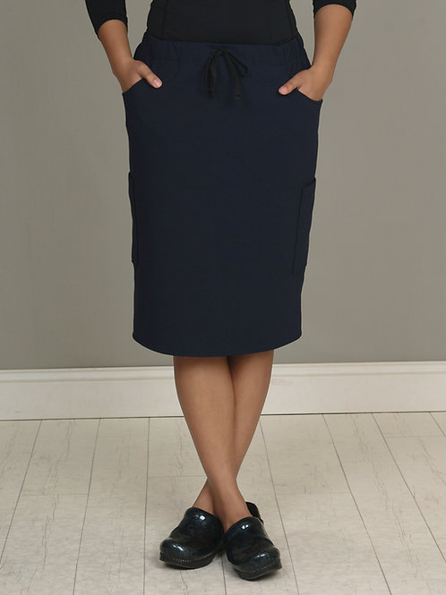 Navy Blue OMNi Skirt