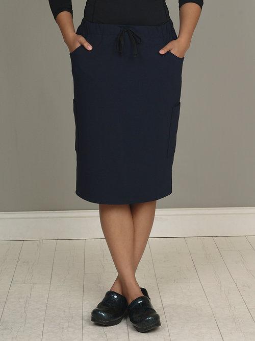 Navy Blue OMNi Skirt