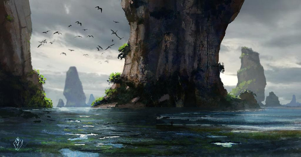 Fantasy Ocean Landscape by jjpeabody