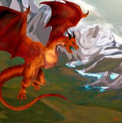 rpg ilustrador odmir fortes dragao sobrevoando montanhas.jpg