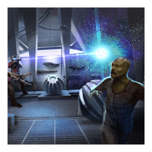 Arte interna de Star Trek Adventure RPG Quadrante gamma