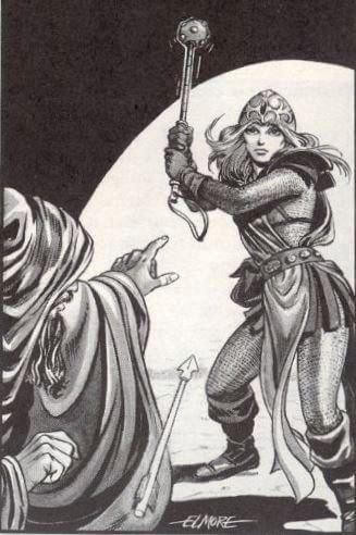 Aleena the Cleric by Larry Elmore