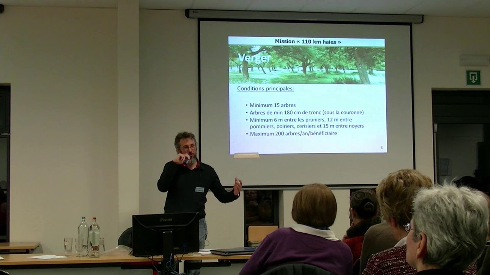 """Présentation mission """"110 km haies"""" Subvention à la plantation de haie, verger, d'alignement d'arbres en taillis linéaire"""