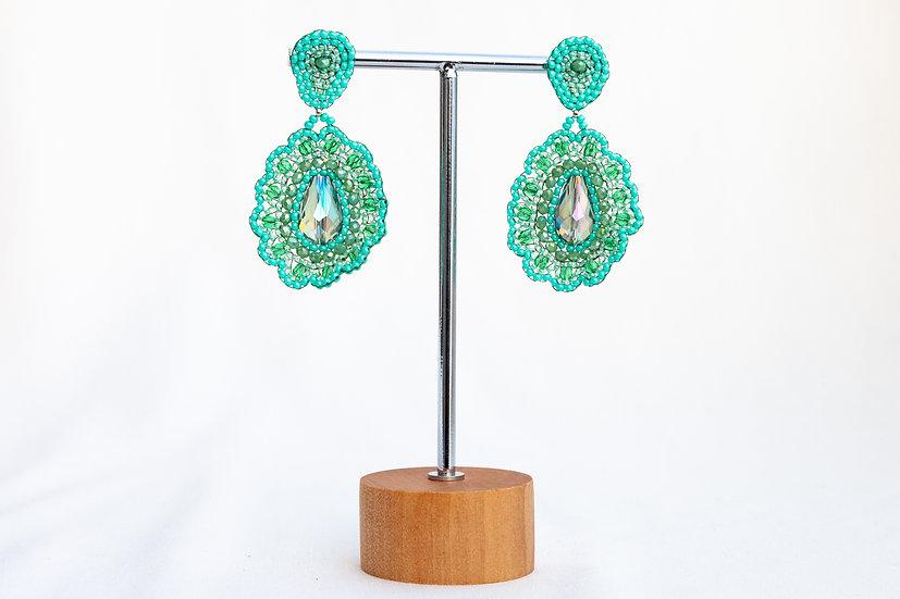 "Ohrringe ""Turquoise Flower"""