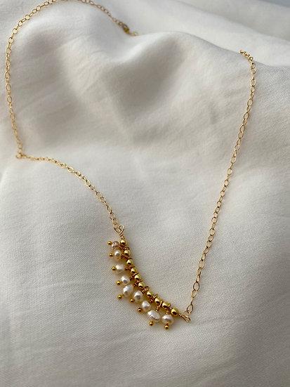 """Halskette """"Hanging Pearl"""" Gold"""