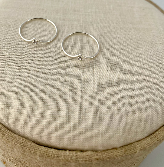 """Ring """"Filled Heartbeat"""" Silber"""