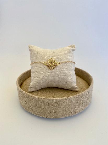 "Armband ""Golden Swirl"""