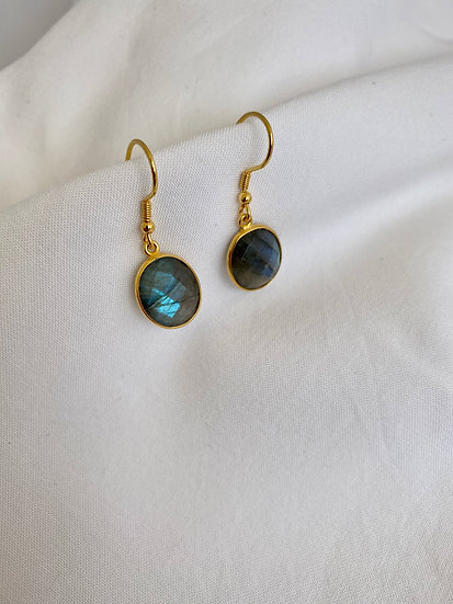 "Ohrringe ""Oval Labradorite"" Gold"