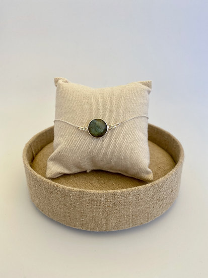 """Armband """"Round Labradorite"""""""