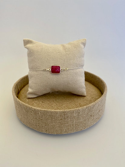 "Armband ""Ruby Rectangle"""