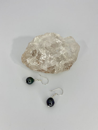 "Ohrringe ""Black Pearly"" Silber"