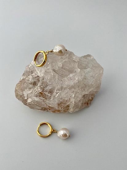 "Creolen ""White Beauty"" Gold"