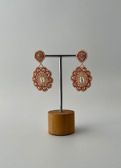 "Ohrringe ""Peach Flower"""